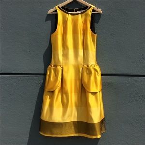 Behnaz Sarafpour Glittering Gold Petal Dress 4
